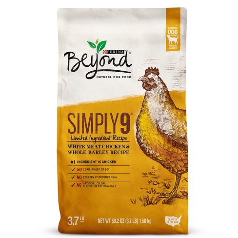 Purina® Beyond Simply 9 White Meat Chicken and Whole Barley Dry Dog Food - image 1 of 5