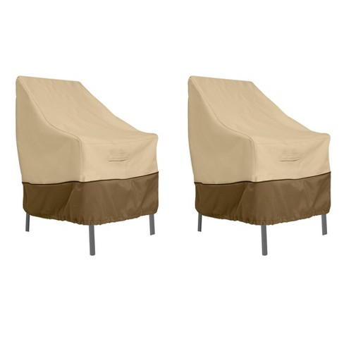 2pk Veranda High Back Dining Patio Chair Cover Classic Accessories
