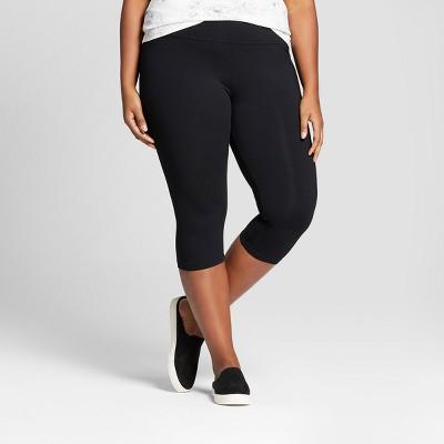 Women's Plus Size Capri Leggings - Ava & Viv™ Black 2X