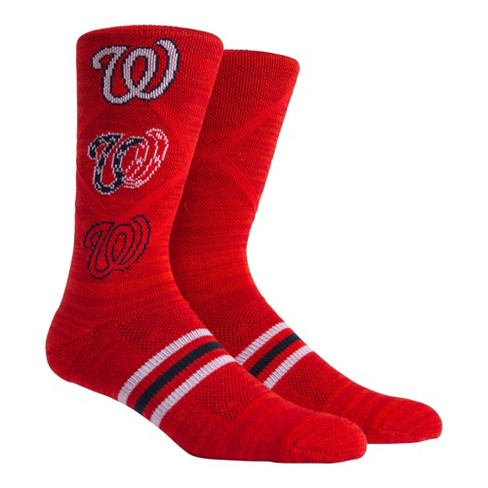 MLB Washington Nationals Stacked Premium Crew Socks - image 1 of 2