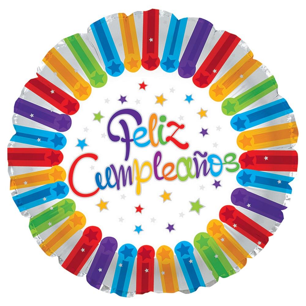Feliz Compleanos Mylar Balloon, Multi-Colored