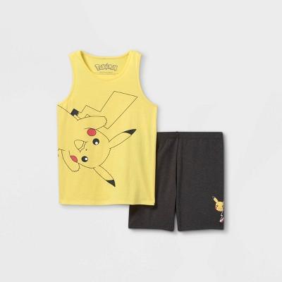 Girls' Pokemon Pikachu Top and Bottom Set - Yellow/Brown