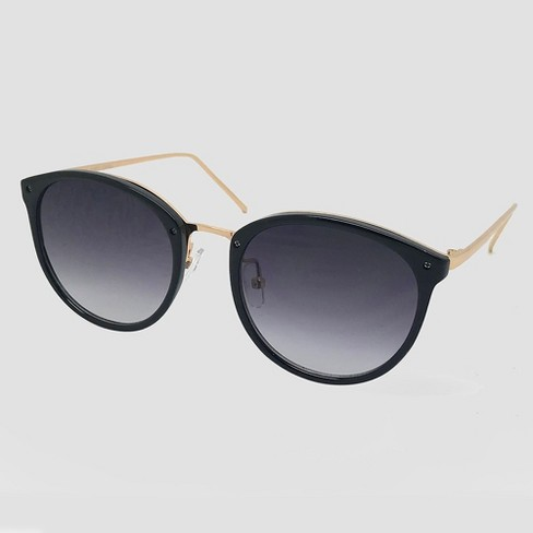 ba73d1b3e0 Women s Round Sunglasses - A New Day™ Black   Target