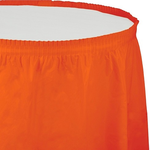 Sunkissed Orange Table Skirt - image 1 of 1