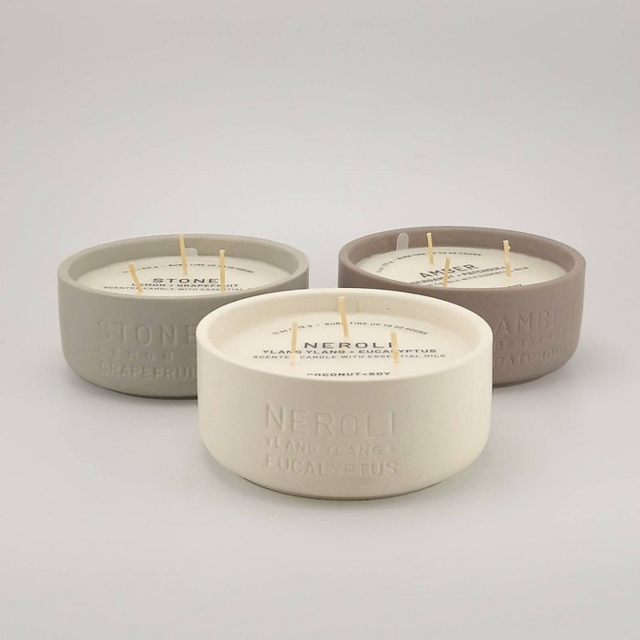 11oz Debossed Ceramic Jar 3-Wick Candle - Project 62™ - image 1 of 2