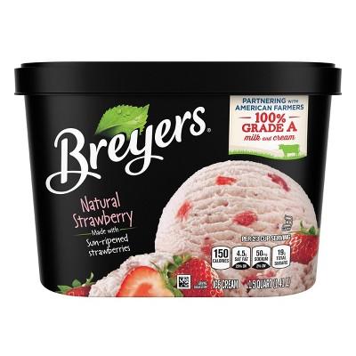 Breyers All Natural Strawberry Ice Cream - 48oz