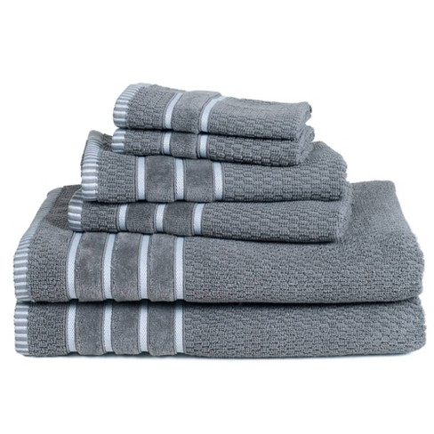 6pc Chevron Bath Towels Set - Yorkshire Home - image 1 of 4