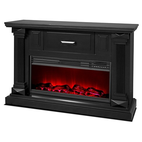 "Lifesmart Legacy Series 48"" Mantle Fireplace with Northern Lights FX - Vintage Black - image 1 of 5"