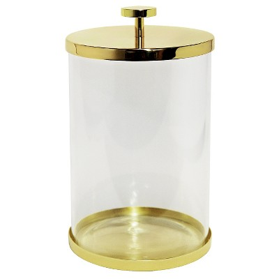 Canister Gold/Glass (Large)- Nate Berkus™