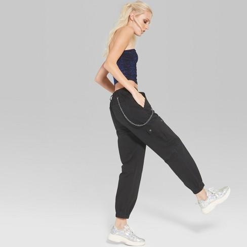 193e890021aae7 Women's Twill Cargo Pants - Wild Fable™ Black : Target
