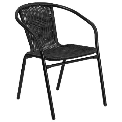 Riverstone Furniture Collection Rattan Stack Chair Black