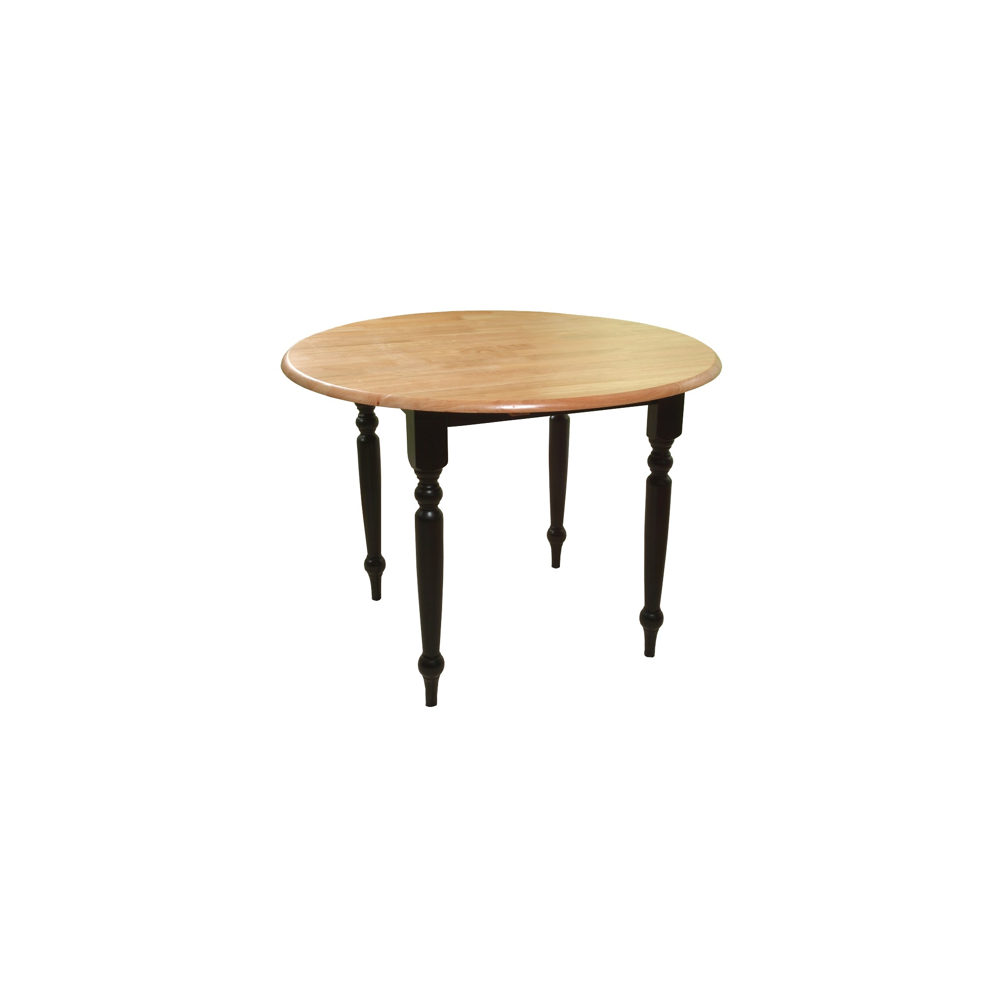 Double Drop Leaf Table Wood/Black/Natural - TMS