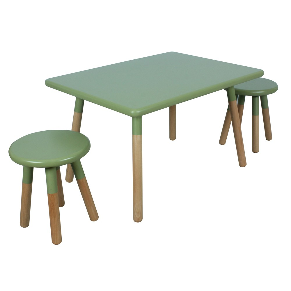 Juvenile Dipped 3 Piece Table Set, Green