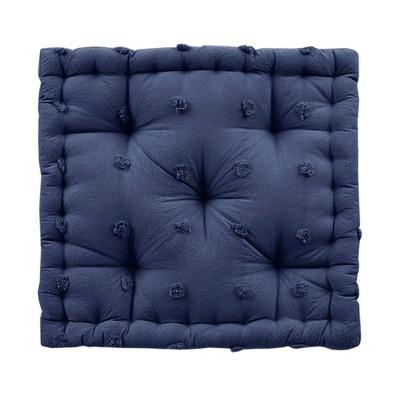 """20""""x20"""" Oversize Kay Cotton Square Floor Pillow Indigo"""