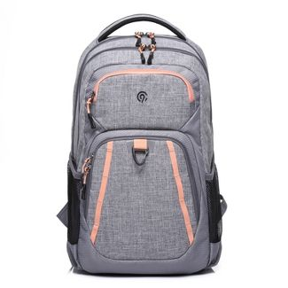 "19"" Double Up Backpack Gray Heather/Burnt Coral - C9 Champion®"