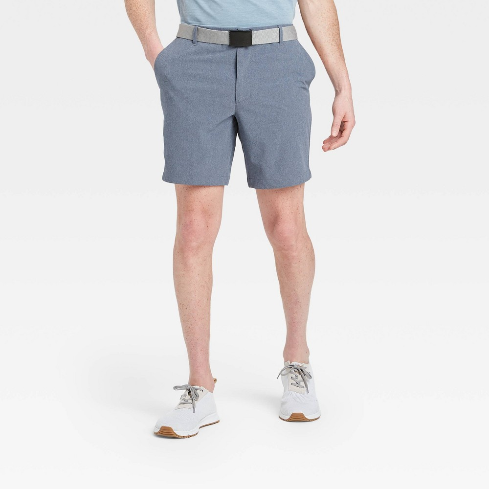 Men's Big & Tall Heather Golf Shorts - All in Motion Navy 44, Men's, Blue was $30.0 now $20.0 (33.0% off)
