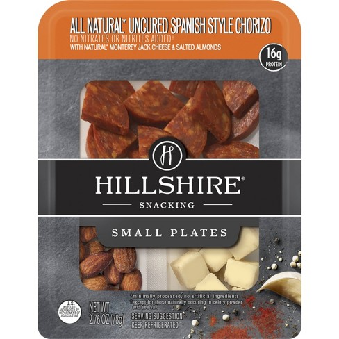 Hillshire Snacking All Natural Uncured Spanish Style Chorizo with Cheese & Almonds Small Plate - 2.76oz - image 1 of 1