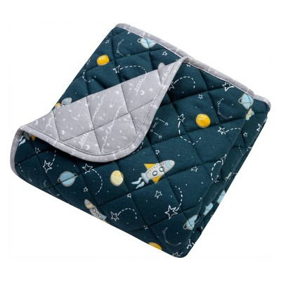 Trend Lab Reversible Baby Quilt - Rockets