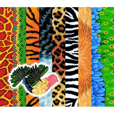 Roylco Assorted Animal Pattern Craft Paper, 8-1/2 x 11 Inches, pk of 40