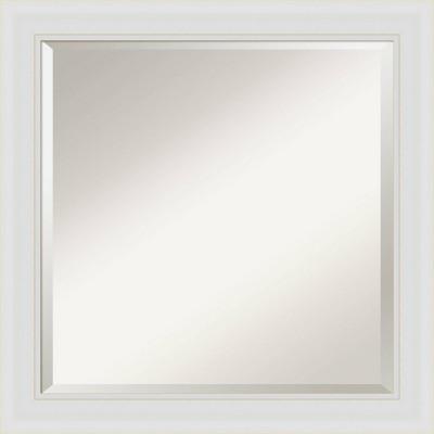 "24"" x 24"" Flair Framed Bathroom Vanity Wall Mirror Soft White - Amanti Art"