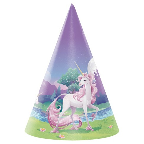 8ct Unicorn Fantasy Party Hats - image 1 of 2