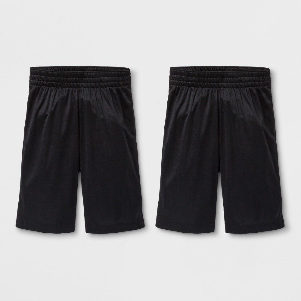 Boys' 2pk Activewear Shorts - Cat & Jack Black XL