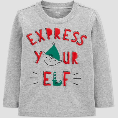 Toddler 'Express Your Elf' Christmas T-Shirt - Just One You® made by carter's Gray 5T