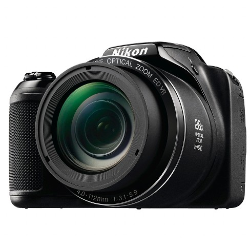 Nikon COOLPIX L340 20.2MP Digital Camera with 28x Optical Zoom - Black - image 1 of 9