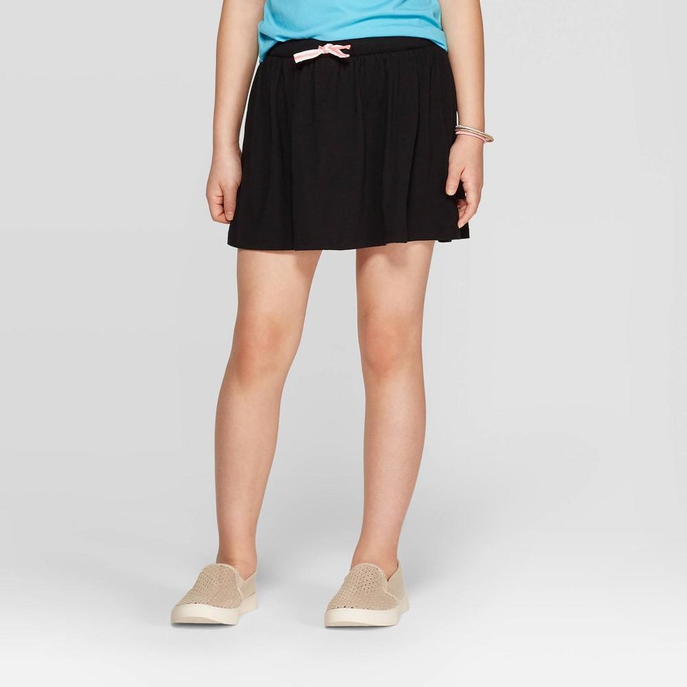 Image of Girls' Knit Skort - Cat & Jack Black L, Girl's, Size: Large