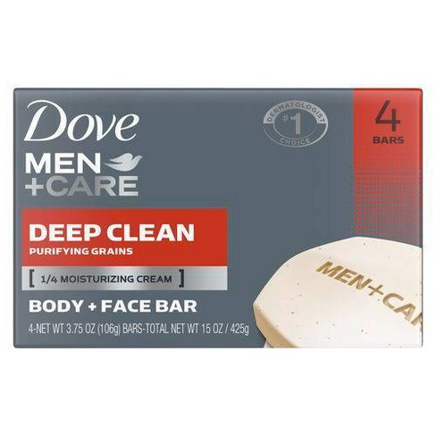 Dove Men+Care Deep Clean Body and Face Bar Soap - image 1 of 4