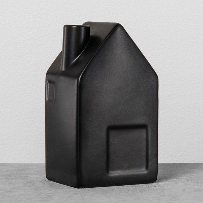 House Bud Vase Medium - Black - Hearth & Hand™ with Magnolia