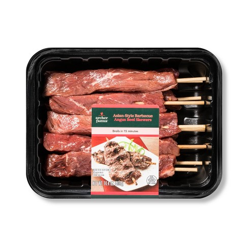 Asian BBQ Beef Skewers Meal Kit - 14.4oz - Serves 2 - Archer Farms™ - image 1 of 1
