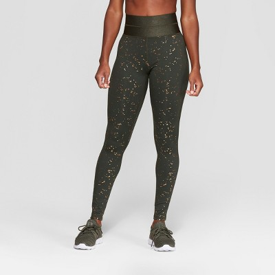 ed2644fbcd535 Womens Everyday High-Waisted Leggings - C9 Champion® Dark Green Fleck Print  S