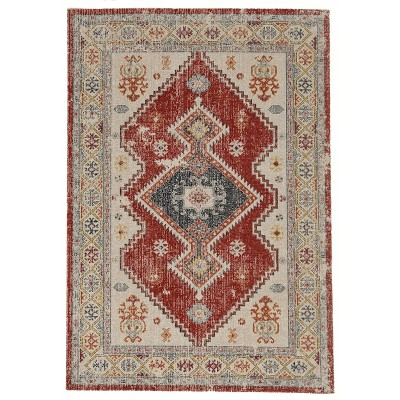 Great Zero Koble Rug Off White/Red - Linon