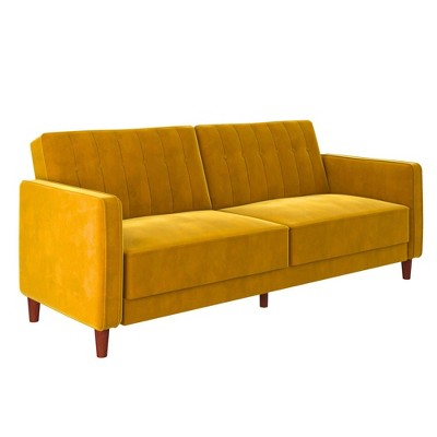 Pin Tufted Velvet Transitional Futon - Room & Joy