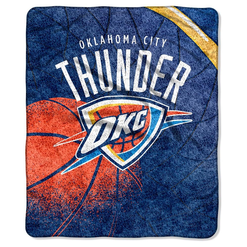 NBA Oklahoma City Thunder Sherpa Throw Blanket - 50