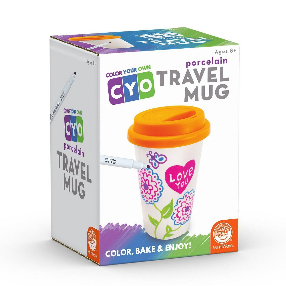 Image of MindWare Paint Your Own Porcelain Travel Mug