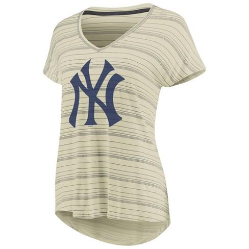 MLB New York Yankees Women s Starting Strong Cream Versalux T-Shirt ... 06ca7ea2cea