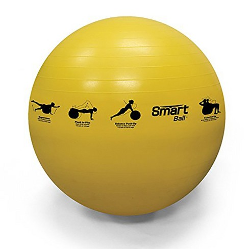 Prism Fitness 55cm Smart Self-Guided Stability Exercise Ball for Yoga, Pilates, and Office Ball Chair, Yellow - image 1 of 4