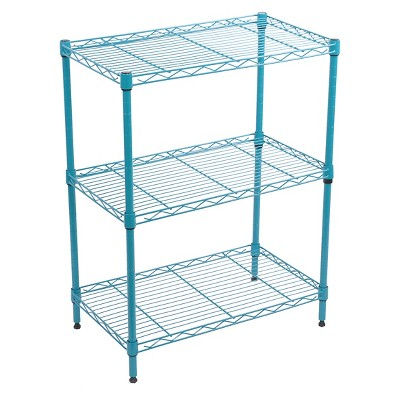 3-Tier Adjustable Wire Shelving - Turquoise - Room Essentials™