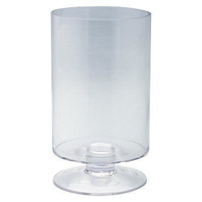 Clear Glass Candleholder - Diamond Star