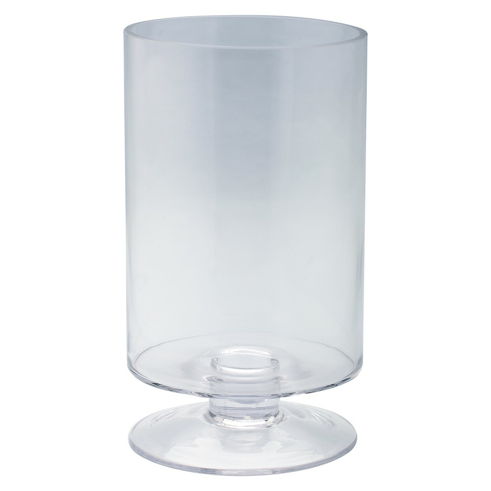 Image of Clear Glass Candleholder - Diamond Star