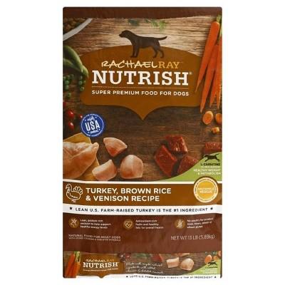 Rachael Ray Nutrish (Turkey & Venison)- Dry Dog Food - 13lb
