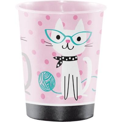 Cat Print Party Plastic Keepsake Cup
