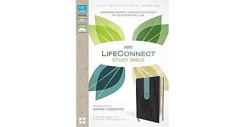 NIV LifeConnect Study Bible : Gray/Dusty Blue, Italian Duo-Tone (Special) (Paperback) - image 1 of 1