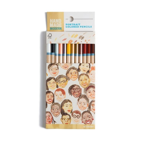 12ct Skin Tone Colored Pencils - Hand Made Modern® - image 1 of 4