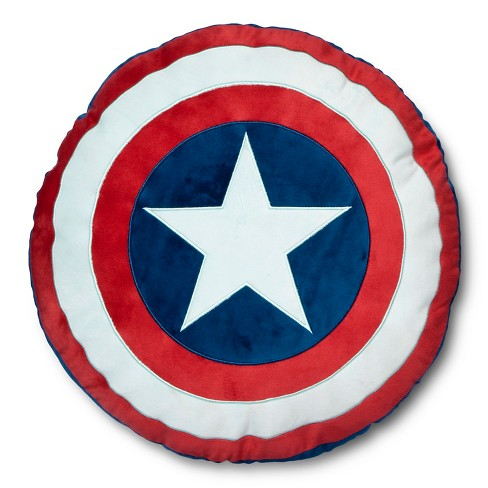 "Marvel Captain American 16""x14"" Shield Pillow - image 1 of 3"