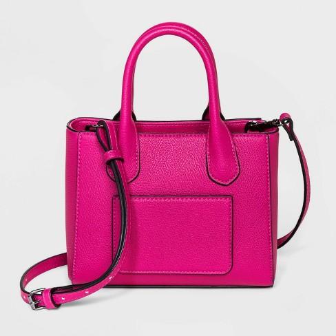 Convertible Mini Boxy Magnetic Closure Satchel Handbag - A New Day™ - image 1 of 3