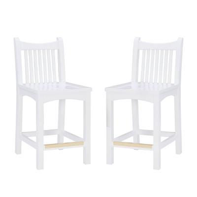 Set of 2 Leola Counter Height Barstools White - Linon