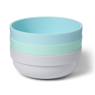 Bowl with TPR Bottom - Cloud Island™ 3pk